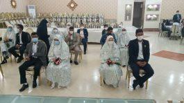 مراسم پیوند فاطمی ۹ زوج در رفسنجان همزمان با ولادت حضرت فاطمه (س) برگزار شد/ تصاویر