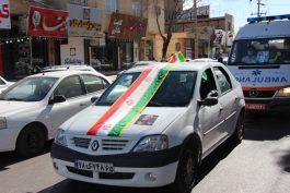 رژه خودرویی و موتوری ۲۲ بهمن ۹۹ در رفسنجان برگزار شد
