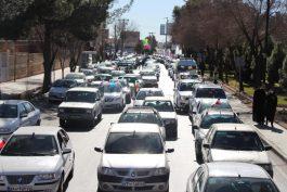 راهپیمایی خودرویی و موتوری ۲۲ بهمن در رفسنجان
