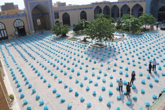 روایت تصویری از اولین کمک مومنانه سپاه رفسنجان در ماه مبارک رمضان