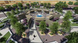 پروژه احداث بوستان ۴/۵ هکتاری در رفسنجان کلید خورد