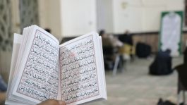 آیین احیاء شب قدر با رعایت شیوه نامه های بهداشتی در رفسنجان+ تصاویر