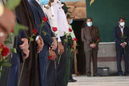 گلباران قبور شهدای رفسنجان به مناسبت سالروز فتح خرمشهر + تصاویر