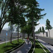 اجرای عملیات ساماندهی و بهسازی بلوار طالقانی (سی متری) شهر رفسنجان