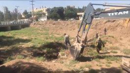 عملیات اجرایی پروژه صد چشمه در رفسنجان آغاز شد