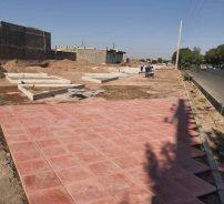 تداوم روند عملیات اجرایی بوستان واقع در بلوار شهید مطهری