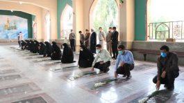 خبرنگاران رفسنجان با آرمان های شهدا تجدید میثاق کردند / عکس