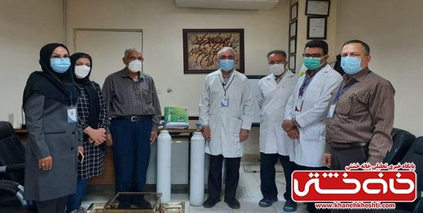 هدیه خیران رفسنجانی به بیماران کرونایی/اهدای کپسولهای اکسیژن به نیابت از شهدا
