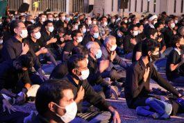 مراسم عزاداری شب تاسوعای حسینی در هیات اباعبدالله الحسین علیه السلام رفسنجان + عکس