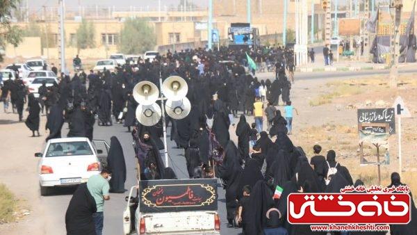 پیادهروی جاماندگان اربعین حسینی در رفسنجان+ تصاویر
